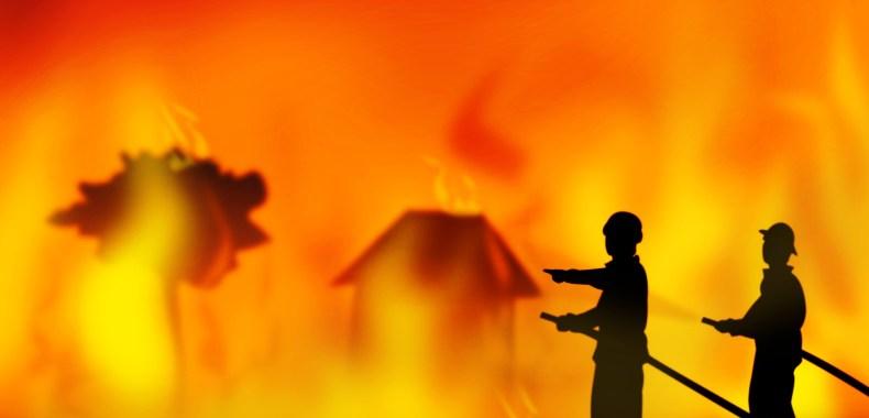 山火事の写真