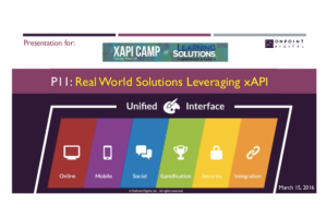 Real World Solutions Leveraging xAPI by Robert Gadd