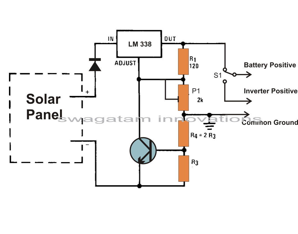 Simple Solar Battery Charger Circuits