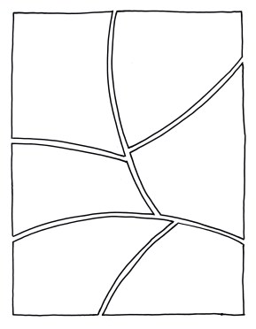 Trick 6 Organic : This one, as drawn, is designed to read left to right, down, right to left, down, left to right.