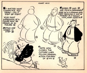 Popeyes How to Draw Cartoons by Joe Musial from 1939-15