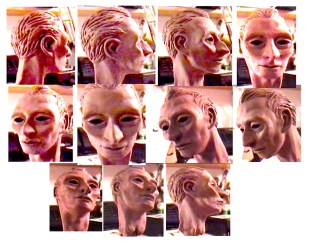 Sculpted clay head character study