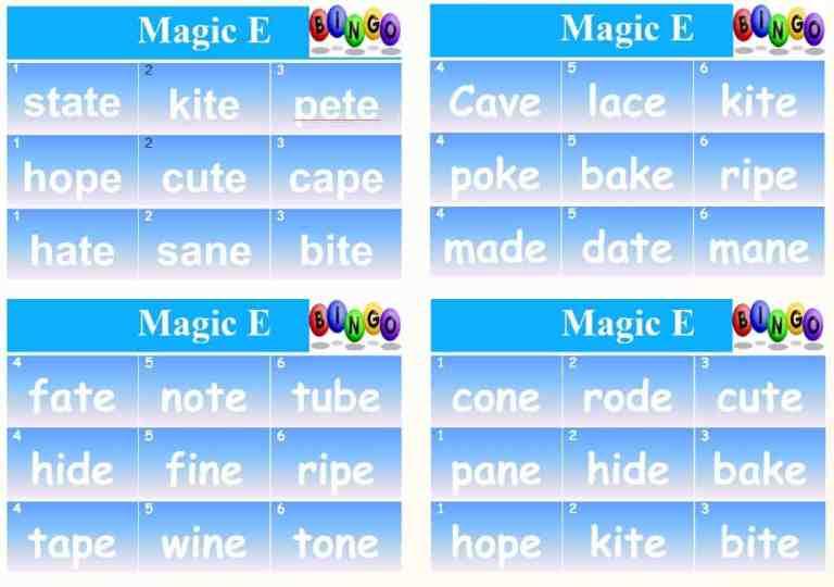 Phonics Bingo –  Vowel Sounds DIPHTHONG and Magic E