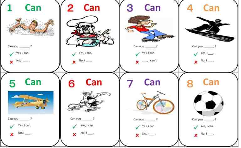 English Uno – I can , I have