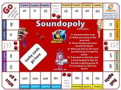 Soundopoly Phonics Game
