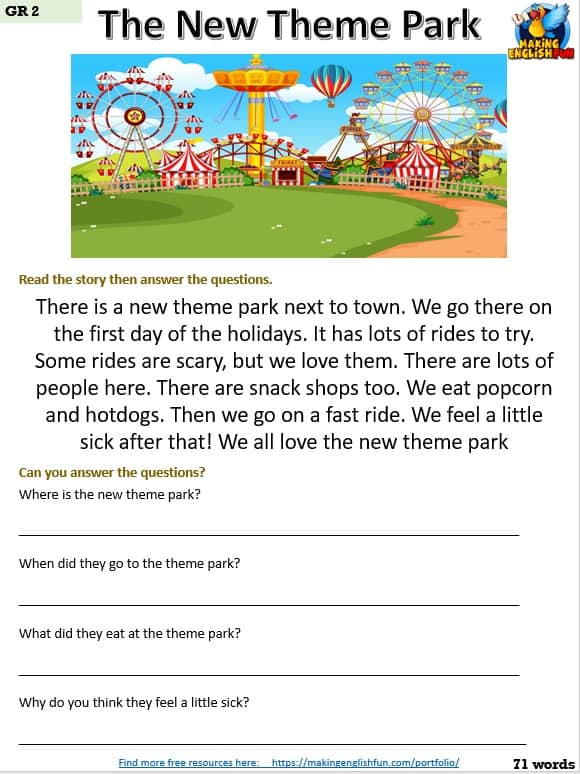 Free Grade 2 Reading Worksheets
