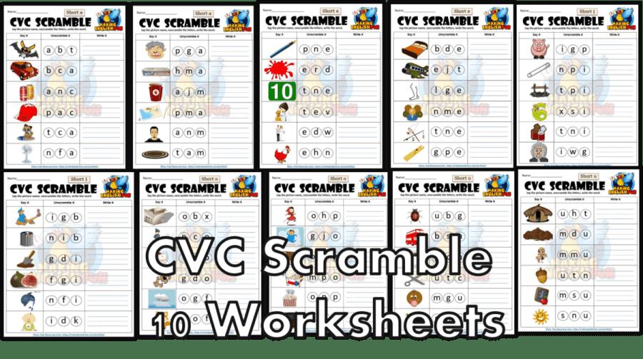 FREE CVC phonics Short vowel worksheet