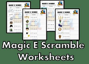 Magic E scramble Phonics Worksheets