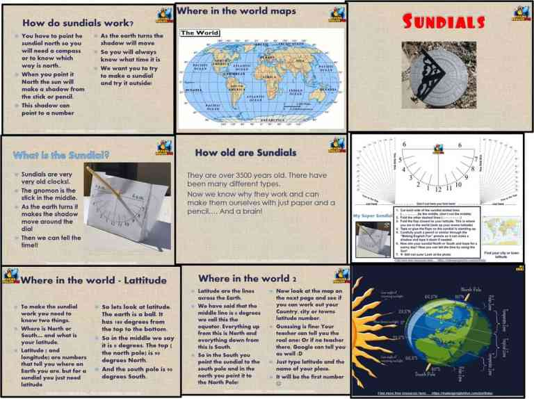 Making a sundial – lesson, PowerPoint and template