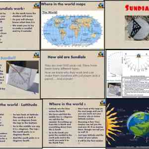 Make a Sundial PowerPoint and lesson