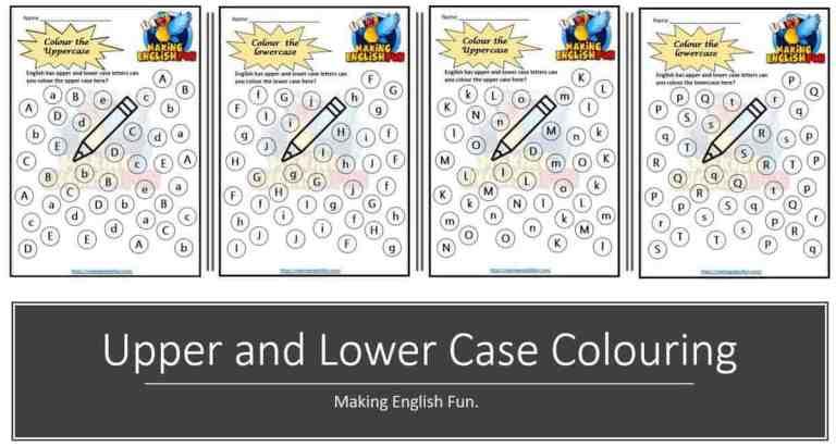 Free Upper and Lower case Kindergarten Worksheets