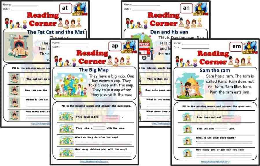 CVC Reading Cards SHort A