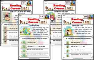 CVC Reading Cards SHort A