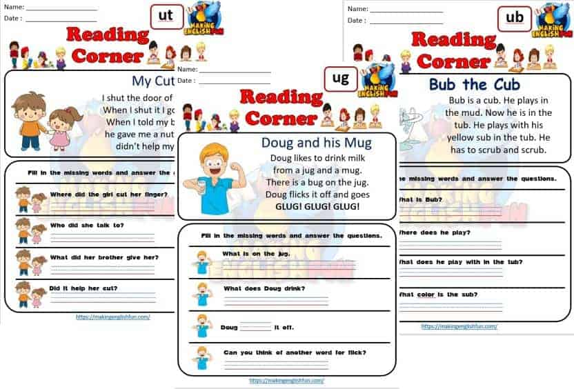 FREE CVC Reading Cards