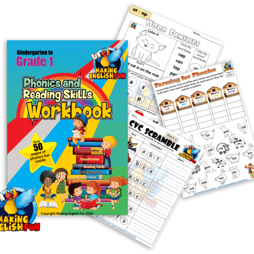 Phonics and reading skills Workbook