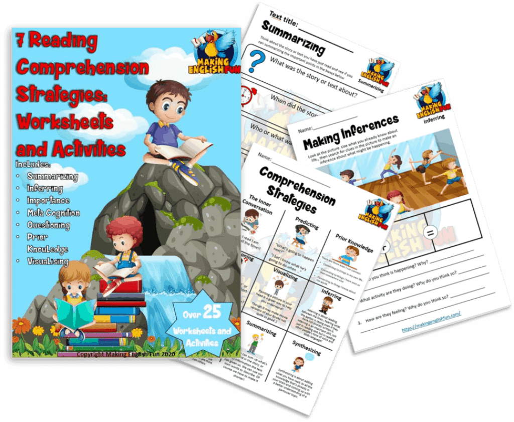 7 Reading Strategy Worksheets