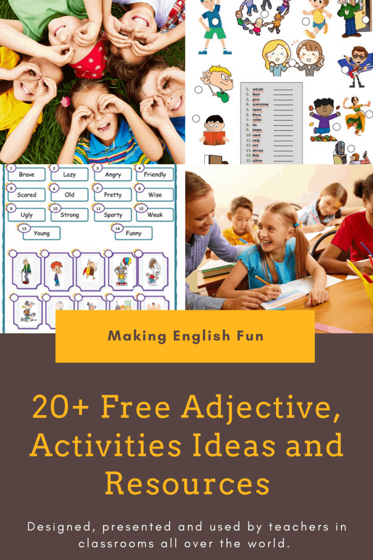 20 Free Adjective Activities With Resources
