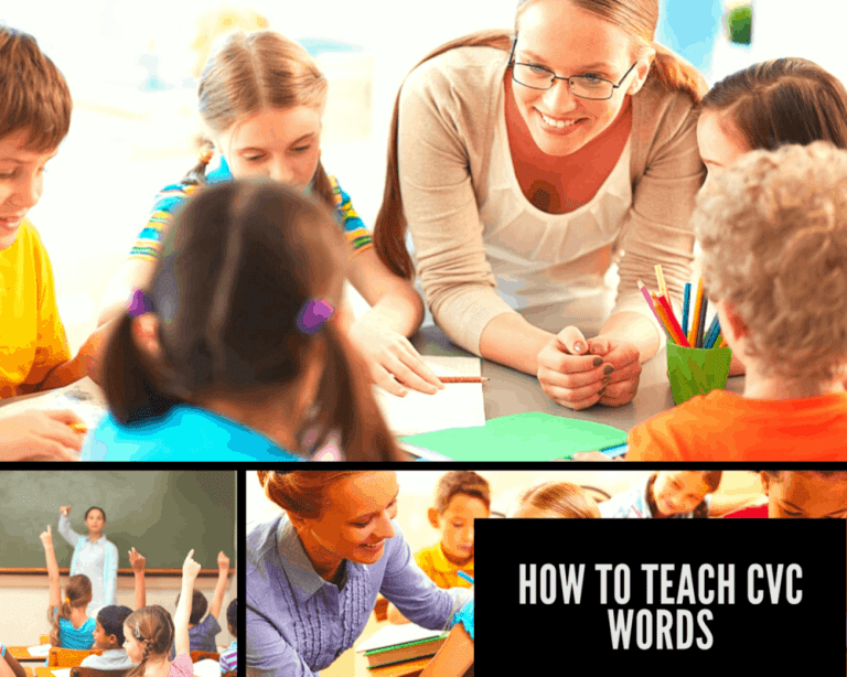 How to Teach CVC Words to Children with activities and games.