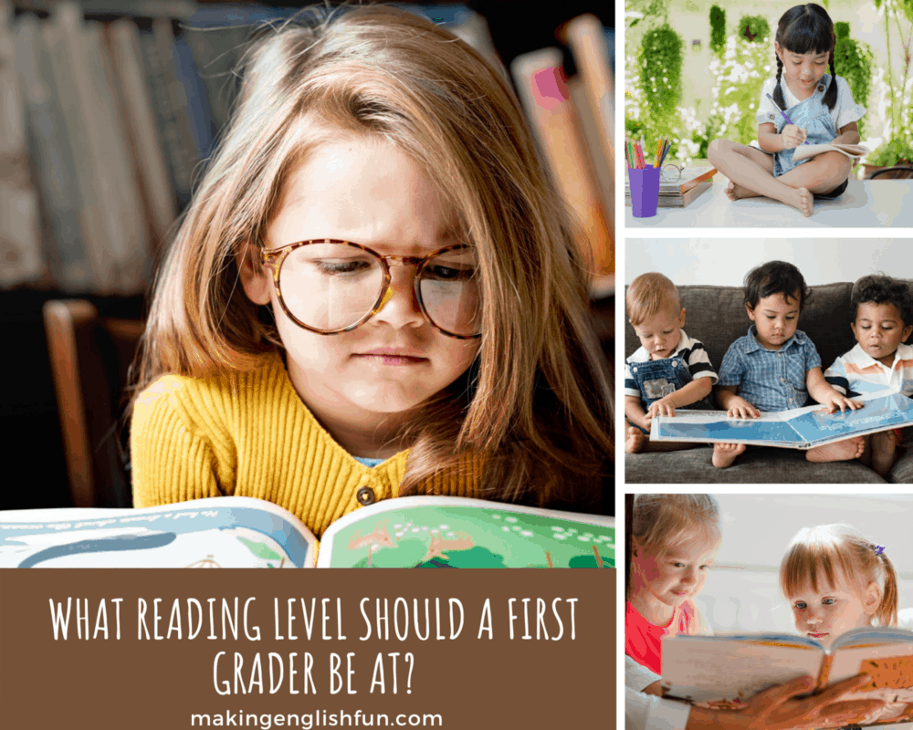 Reading levels FIrst grade