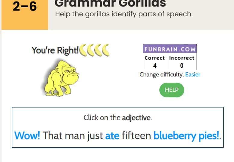 online adjective games