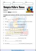 Simple Future Tense Worksheet 1