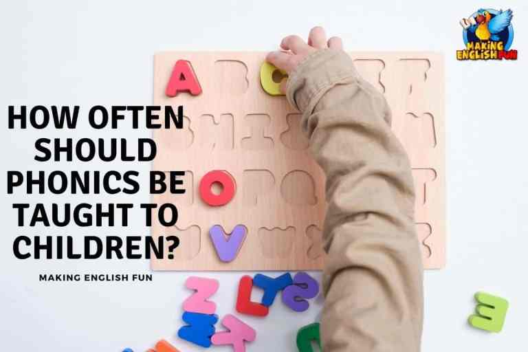 How Often Should Phonics Be Taught to Children?