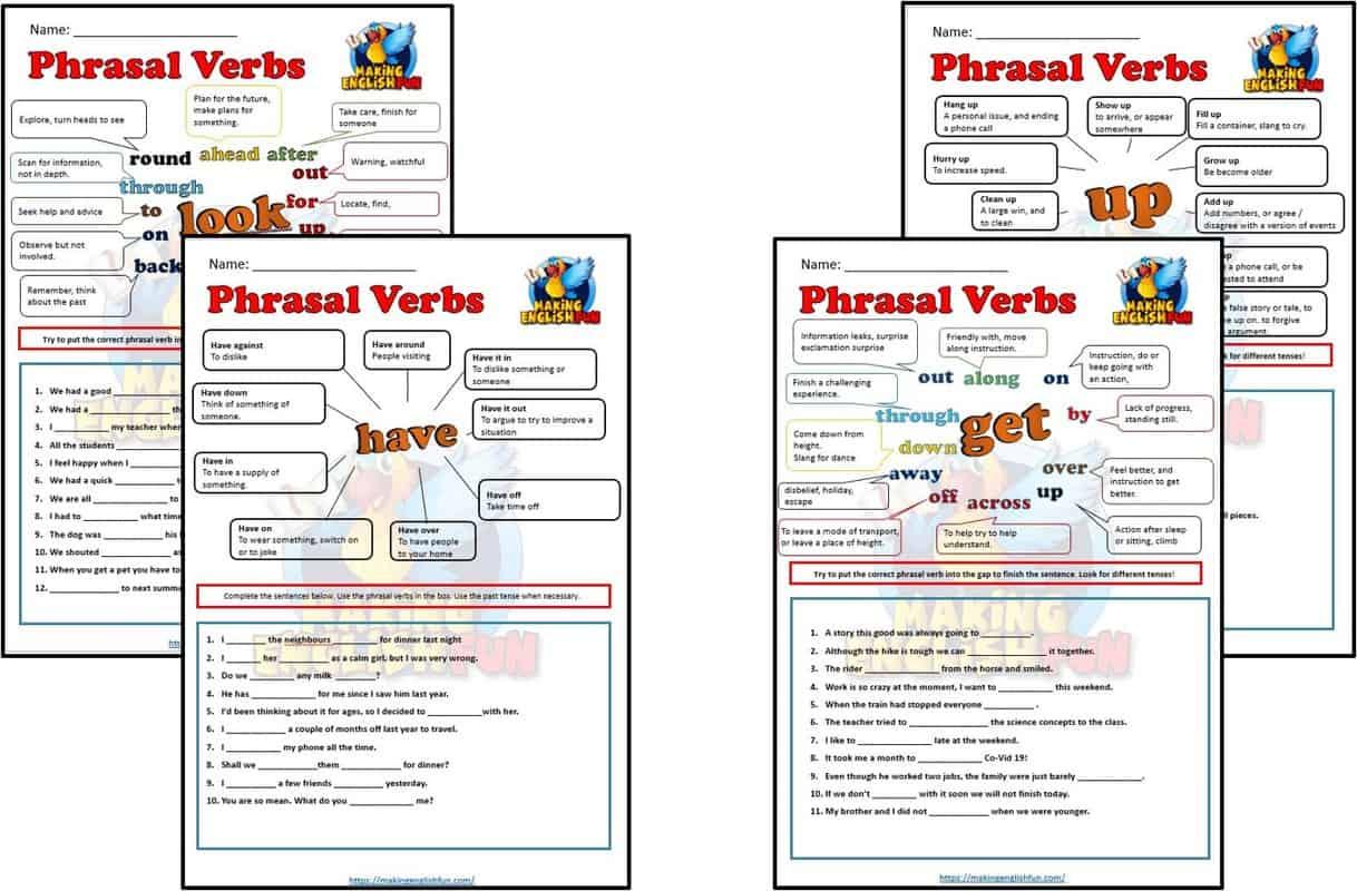 Phrasal Verb Worksheets