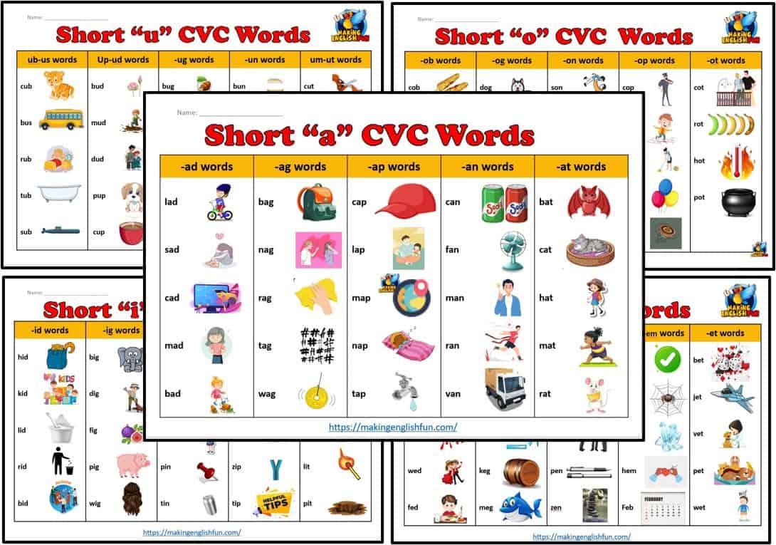 FREE CVC Word List