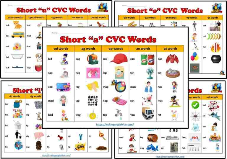 The Best Free CVC Word Lists: And How To Use Them.
