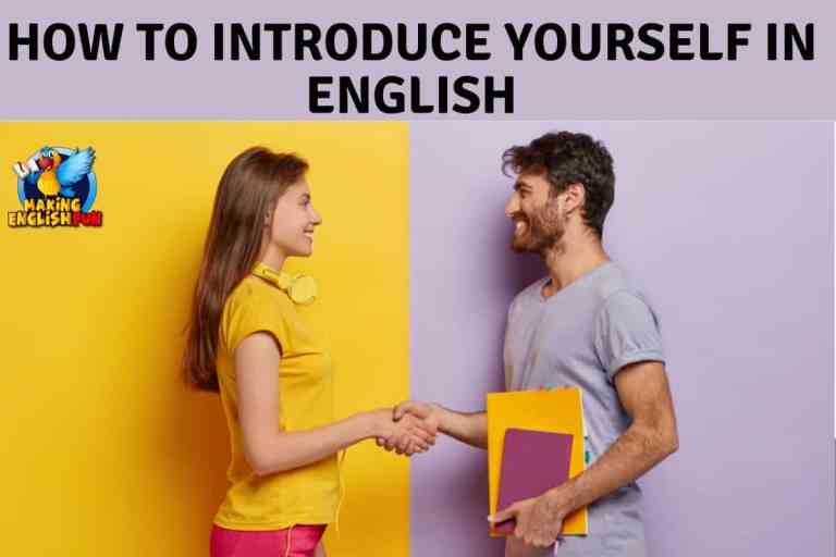 How to Introduce Yourself in English.