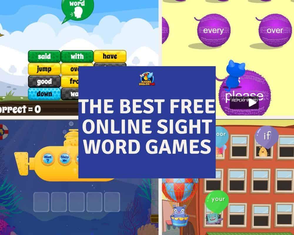 Best Free Online Sight Word Games