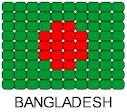 Bangladesh Flag Pin Pattern
