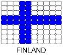 Finland Flag Pin Pattern