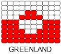 Greenland Flag Pin Pattern