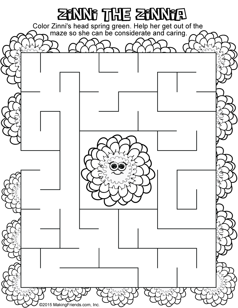 Daisy scout petal coloring pages - Daisy Spring Green Petal Maze Makingfriendsmakingfriends Daisy Spring Green Petal Maze Makingfriendsmakingfriends Girl Scout Coloring Pages