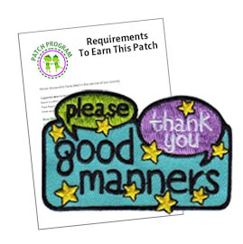 Girl Scout Good Manners Patch Program®