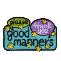 Girl Scout Good Manners Patch