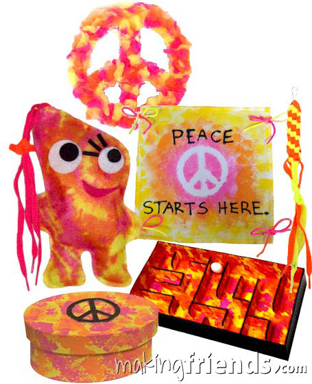 Girl Scout Peace Badge in a Bag via @gsleader411