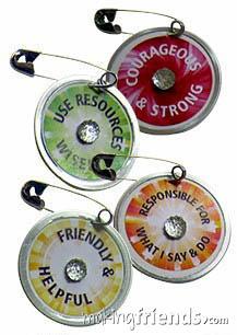 GS Law Medallion Girl Scout Friendship SWAP Kit via @gsleader411