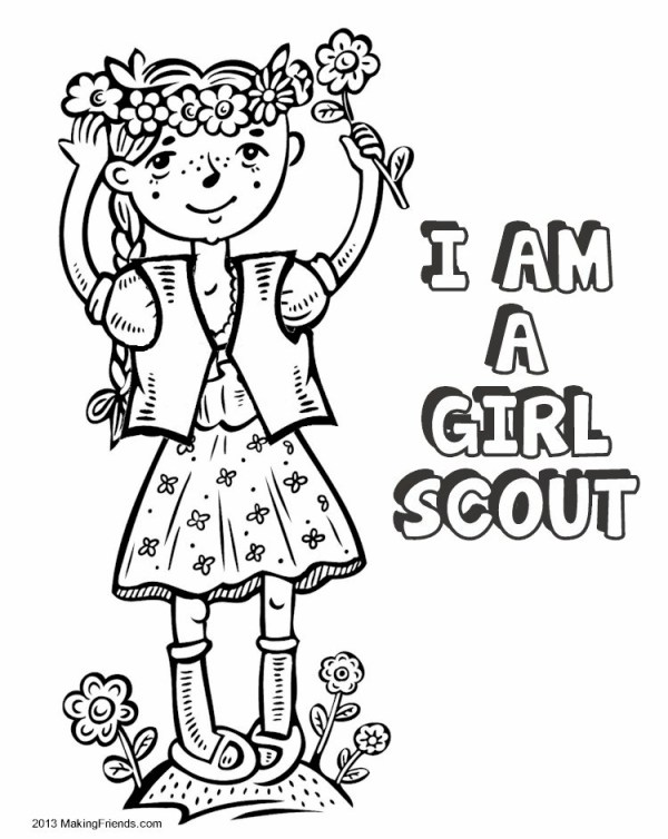 girl scout promise coloring page # 33