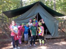 Camping with Girl Scouts