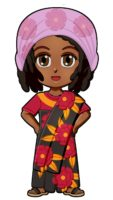 Madagascar Traditional Clothes for Thinking Day