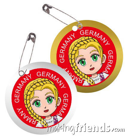 Germany International Costume Friendship Swap Kit. Superhero Willow wears traditional clothing from Germany for international crafts for swapping. Fun and economical. No scissors or glue needed. Quick and easy to make. Kit makes 24. More fun ideas for your Germany booth on our page Germany   Ideas for Thinking Day* including patches, costumes, recipes and more. via @gsleader411