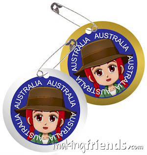 Australia International Costume Friendship Swap Kit. Superhero Freedom wears outback clothes from Australia for these swaps. Economical to make. No scissors or glue needed. Quick and easy too. Perfect for your Girl Scout World Thinking Day or International event. Kit makes 24 swaps and is available at MakingFriends®.com. Find a information about Australia as well as patches, crafts, passports and more for your international event on our page Australia | Ideas for Thinking Day*. via @gsleader411