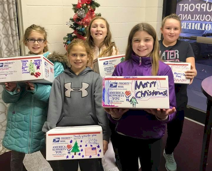 Girl Scouts send Military Care Packages