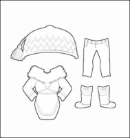 World Thinking Day Traditional Canada Clothing Outline