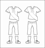 Canada Girl Guide Uniform for Thinking Day Outline