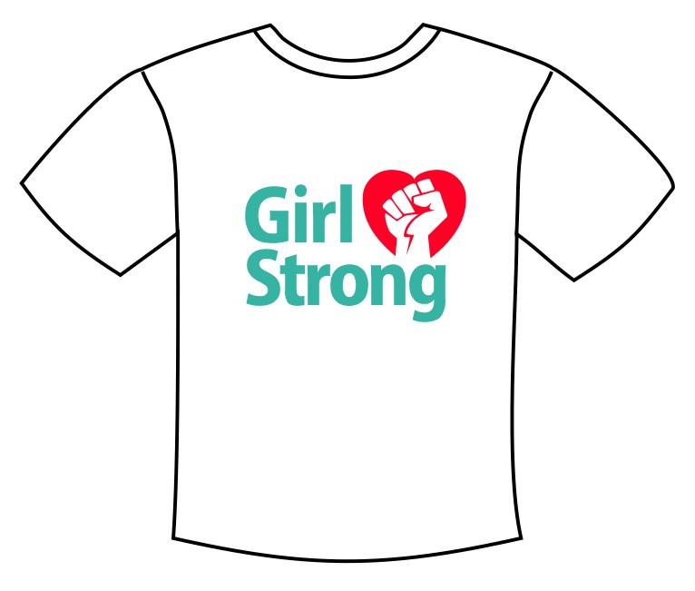 Girl Strong Tee Shirt Transfer