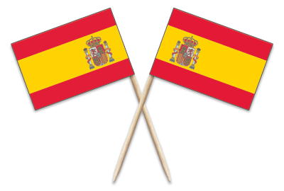Spain Toothpick Flags