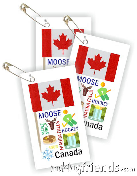 Girl Scout Thinking Day Toothpick Flag SWAP Canada via @gsleader411